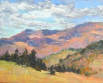 Plein air oil painting of a southern Oregon landscape by Silvia Trujillo, 2014