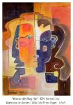 image of an abstract watercolor painting of a woman's face by Margaret Stermer-Cox