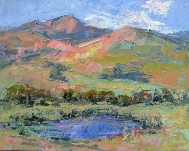 """Her Hills"" Plein air oil painting by Silvia Trujillo, Ashland, Oregon 2014"