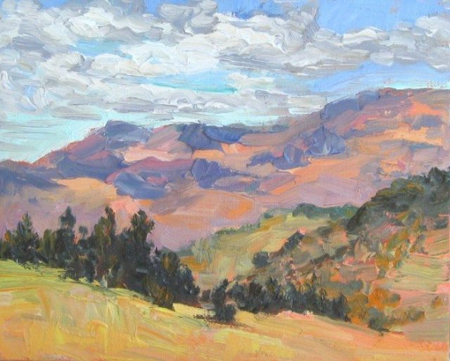 Plein air oil painting by Silvia Trujillo, Ashland, Oregon 2014