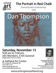 Art Inspires Ashland 2014 Dan Thompson Workshop flyer