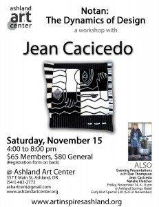 Art Inspires Ashland 2014 Jean Cacicedo Workshop Flyer