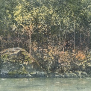 Rivers Edge, watercolor by Penny Simmons