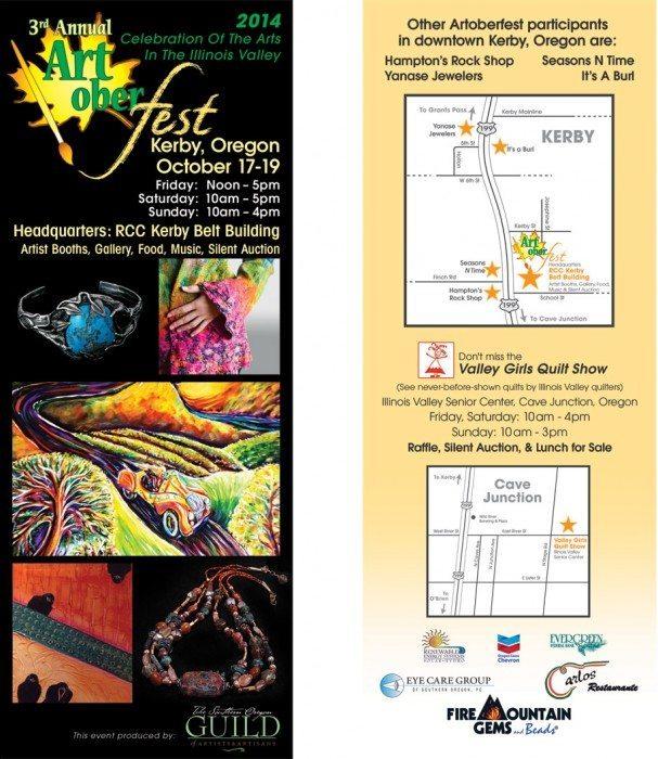 Artoberfest 2014 flyer (back)