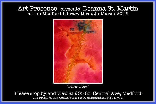 Art Presence - Deanna St Martin - Medford Library Exhibit 2015