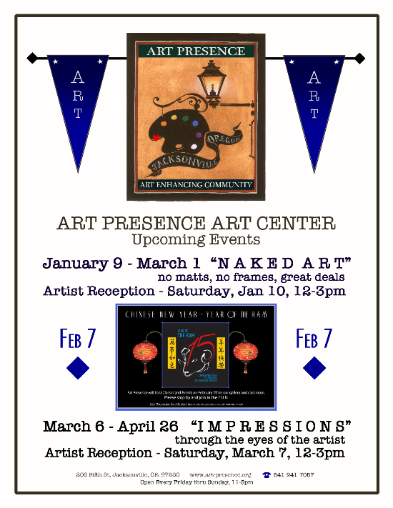 Art Presence - Naked Art exhibition announcement
