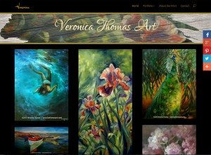 veronicathomasart.com, new website for artist Veronica Thomas created and launched in April 2015 by Hannah West using a customized version of the Divi theme.