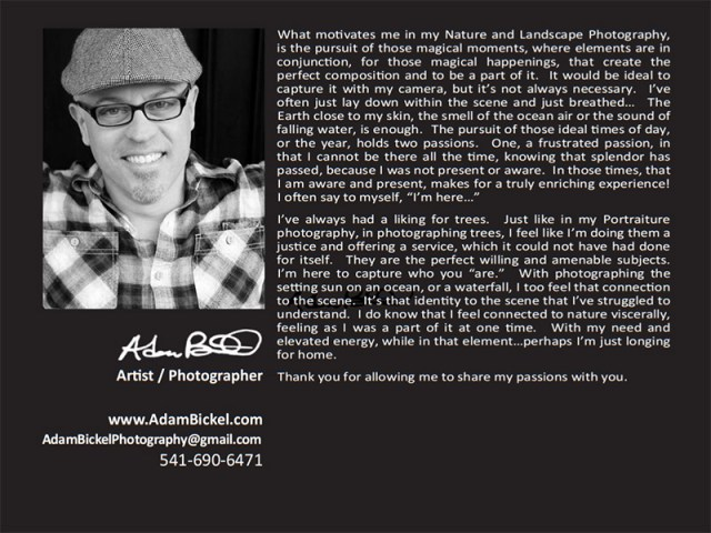 Adam Bickel Photography artist statement