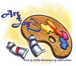 Art 4 Joy art classes and events, Central Point, Oregon logo