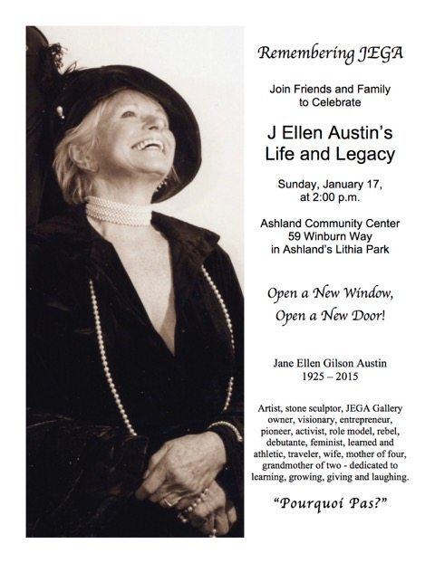 Remembering J Ellen Austin : Memorial Service January 17