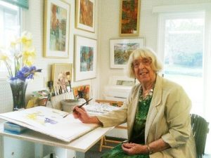 Southern Oregon Artist Dodie Hamilton-Brandon In Her Studio