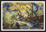 Watercolor painting by Sue Bennett, Jacksonville, Oregon. Join Sue for an intermeditate watercolor class at Central Art Supply in Medford, Oregon on Aoril 22 & 23, 2016!