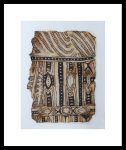 Cathy Dorris Congo Mubti Bark Cloth Fragment art class at Kindred Spirits, Talent, Oregon, May 25 2016