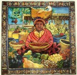 image of Basket Woman, acrylic painting by Suzanne Etienne
