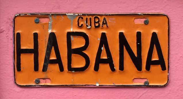 image of Cuban license plate by Judy Morris