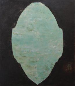 Ashland Gallery Association October 2016 Art Exhibits : Élan Chardin Gombart, Screen l, acrylic on panel, 36 x 42