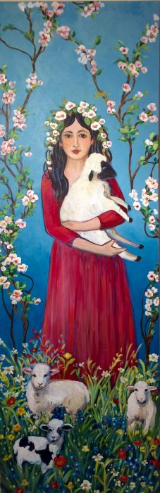 Ashland Gallery Association February 2017 Art Exhibits: 'Spring with Lambs' by Suzanne Etienne
