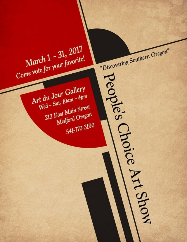 discover Oregon People's Choice Exhibit at Art duJour gallery, Medford, Oregon, March 2017