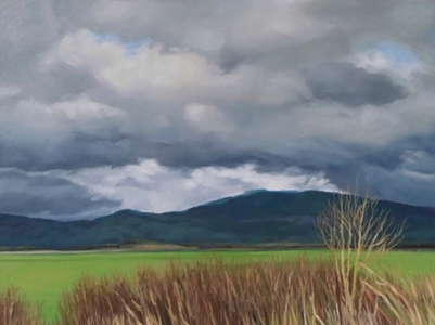 Storm South of Brownsville, OR, painting by Lucy Warnick