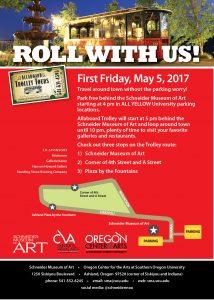 Roll with the Allaboard Trolley through the Art Walk