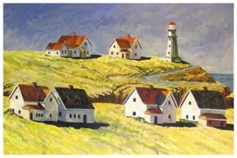 Coastal Lighthouse, oil by Bill Stanton