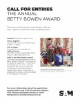 Call to Artists for the Annual Betty Bowen Awrd, August 2017