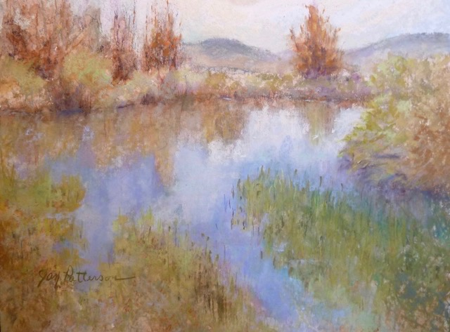 Light Touch, pastel painting by Janet Patterson on exhibit at Gallerie Karon in Ashland, Oregon for September 2017