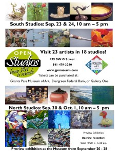 Open Studios How Art is Made Grants Pass and Josephine County this September