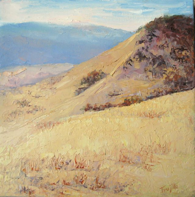 Indian Memorial, oil painting by Silvia Rothschild Trujillo. New work plein air painted in the hills above Ashland, Oregon.
