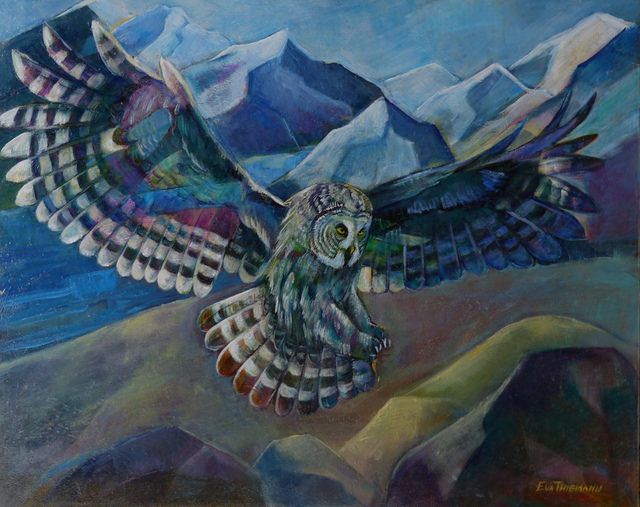 I am having oil paintings of Great Grey Owl, Snowy Owl and Great Horned owls and bears at the Creekside Pizza which is part of Ashland Gallery Association. Exhibit from January till beginning of March 2018