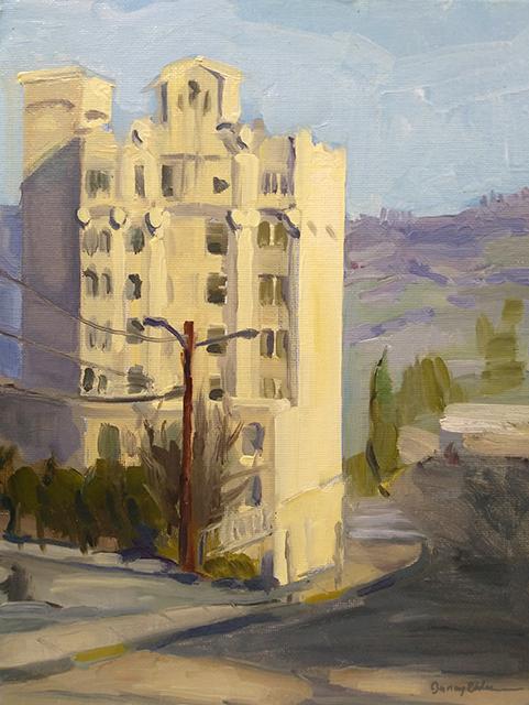 """Image caption: Jenay Elder, """"Ashland Springs Hotel,"""" oil painting"""