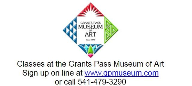 GPMA Adult Art Classes: Now through July 2018 - Adult Art Classes at Grants Pass Museum of Art, Grants Pass, Oregon