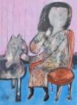 "Robert Koch, ""Hush,"" acrylic on panel 24x24"