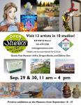 Open Studios September 29 & 30, 11 am - 4 pm
