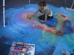 "Mera Oliveria, ""Chalk Art"", Grants Pass, Oregon"