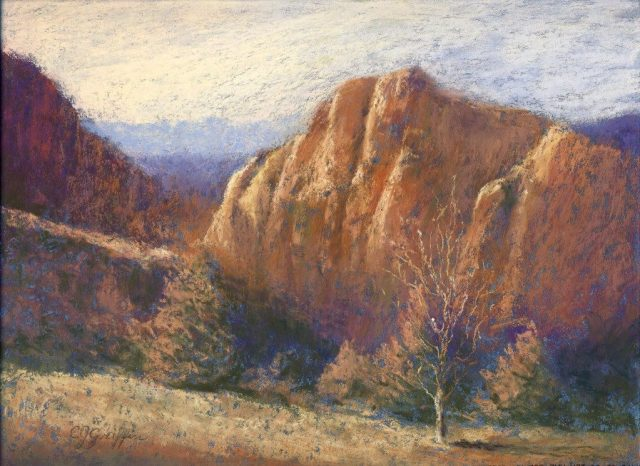 Smith Rock, pastel painting by Carla Griffin, member of Art and Soul Gallery