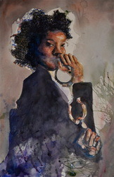 """Nora Costley, """"Take Your Power Back"""" watercolor"""