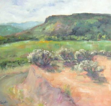 Silvia Trujillo oilpaiting of an Oregon landscape