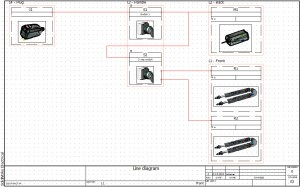 SolidWorks Electrical 2D: Line Diagram Drawings & Locations