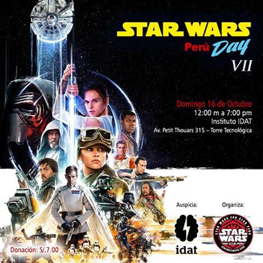 Los amigos de Star Wars Fan Club Perú confirmaron que el domingo 16 de  octubre de 2016 realizarán su Star Wars Day y anuncian que el evento  contará con los ... d3b3ee471961