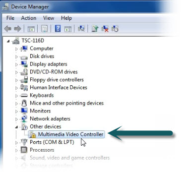 Correct manual installation of the card is signified by a yellow exclamation point in the Device Manager tab. Install the software for screen capture on tablets and it will go away.