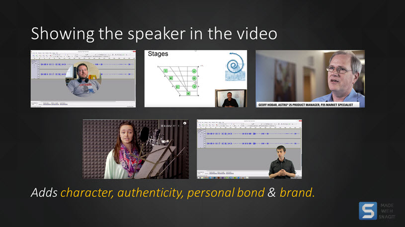 examples of speaker video