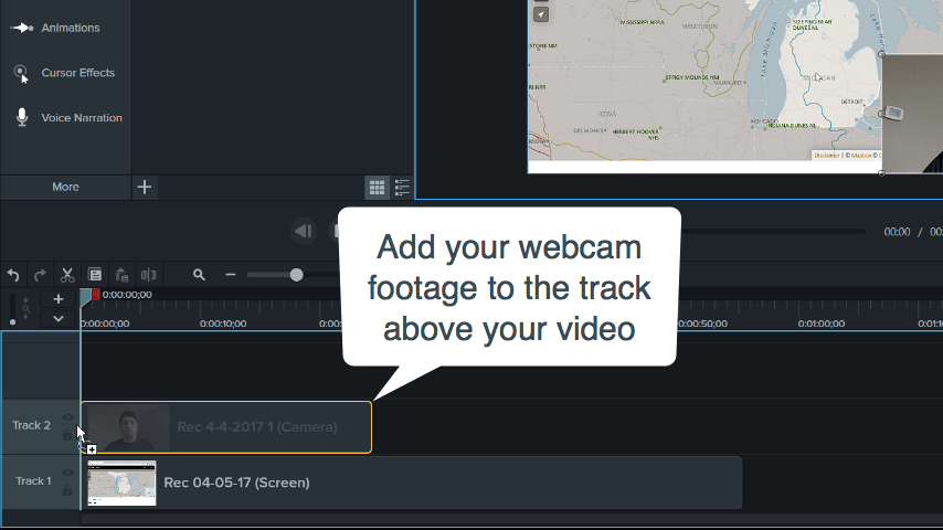 Adding Webcam Videos
