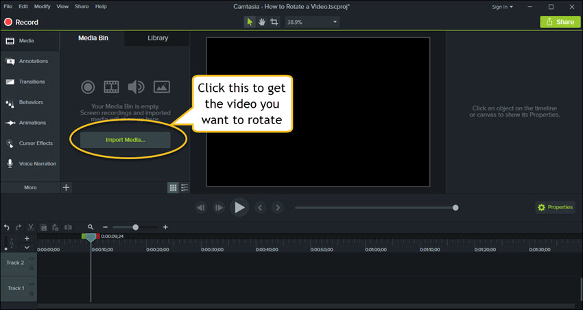 find the video you want to rotate