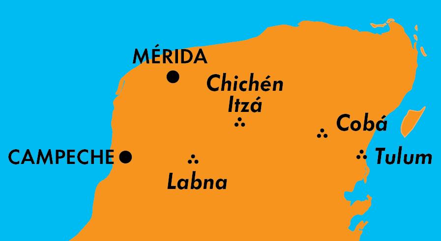 map of the Yucatan Peninsula