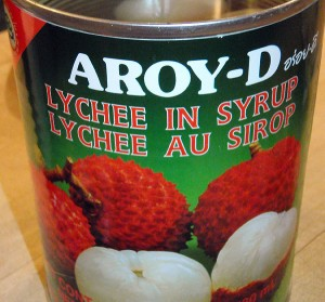 a half tin of lychees is added to the curry