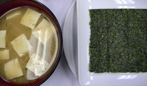 miso soup and nori