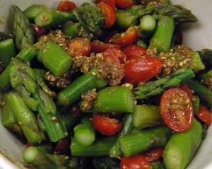 Japanese sesame-dressed salad aka 'gomaae'