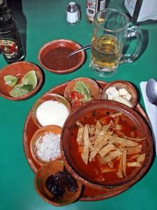 tortilla soup as served in Guadalajara, Mexico