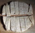 sliced tortillas
